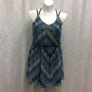 By & By (multicolored blues) Sundress Size XL